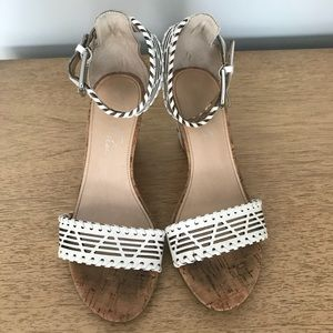 Marc Fisher Wedge Sandals-size 6